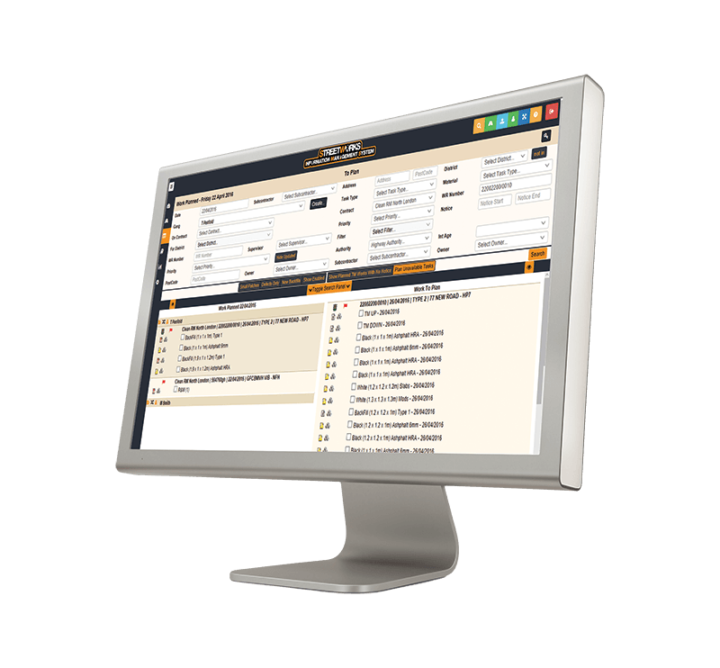 Street works scheduling software